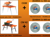 pily CGW nebo CM45