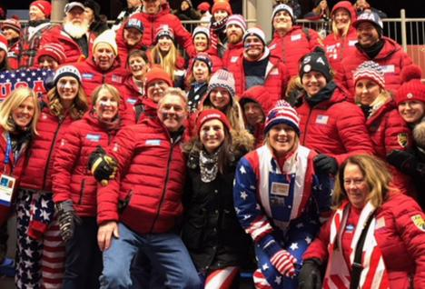 Norton with the USA Luge team