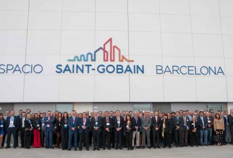 inauguración espacio saint gobain barcelona