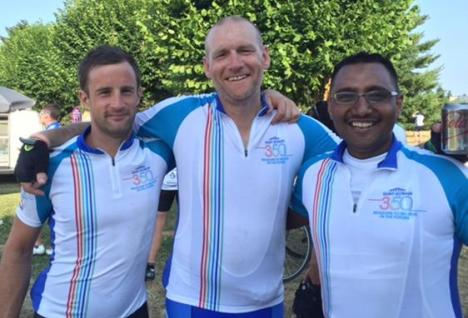 350 bike ride - Budhi, Andy & Dom